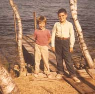 My brother and me, second summer at the lake