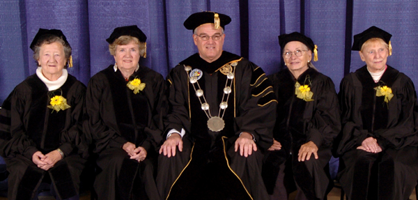 Four of the Mercury 13 receiving honorary doctorates, 2007