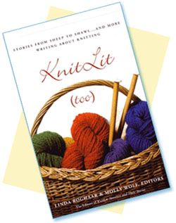 photo of cover of the book Knit Lit Too