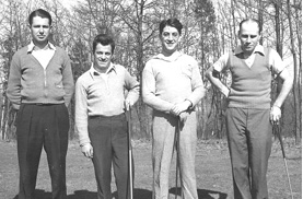 My father with his golfing chums