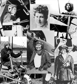photo collage of pioneer women aviators