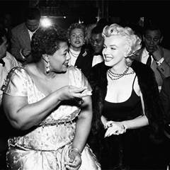Photo of Ella Fitzgerald and Marilyn Monroe